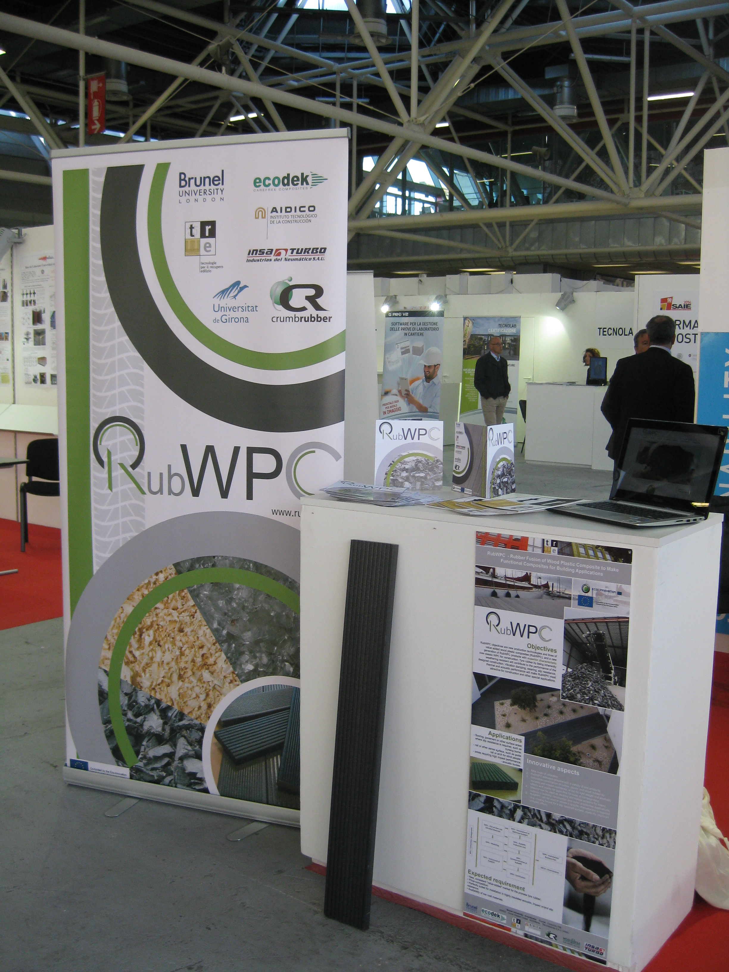 RubWPC at SAIE 2014 in Bologna, Italy